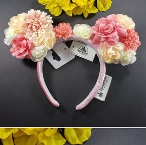 Disney Parks Pink multi Flowerd Minnie Ears